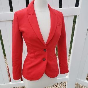 H&M Solid Red Blazer Jacket women's size 6